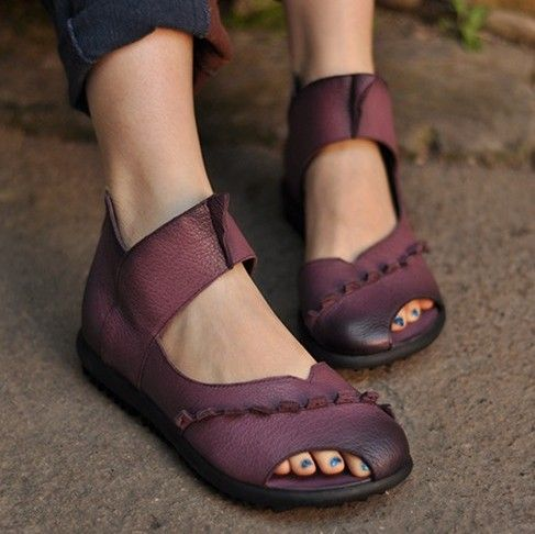 Find More Women's Sandals Information about 2015 summer genuine leather shoes open toe sandals handmade cowhide cutout flat comfortable casual sandals free shipping,High Quality shoes christian,China sandal hiking shoes Suppliers, Cheap sandals high heel shoes from Dream Girl shoes house on Aliexpress.com