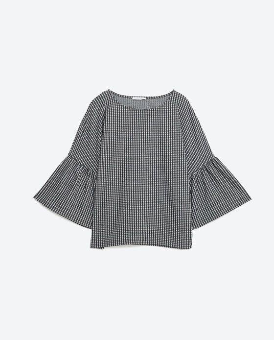 Image 8 of BELL SLEEVE TOP from Zara
