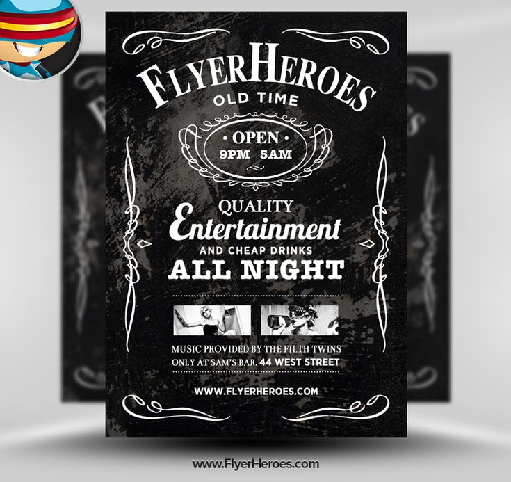 Whiskey PSD Flyer Template by flyertemplates