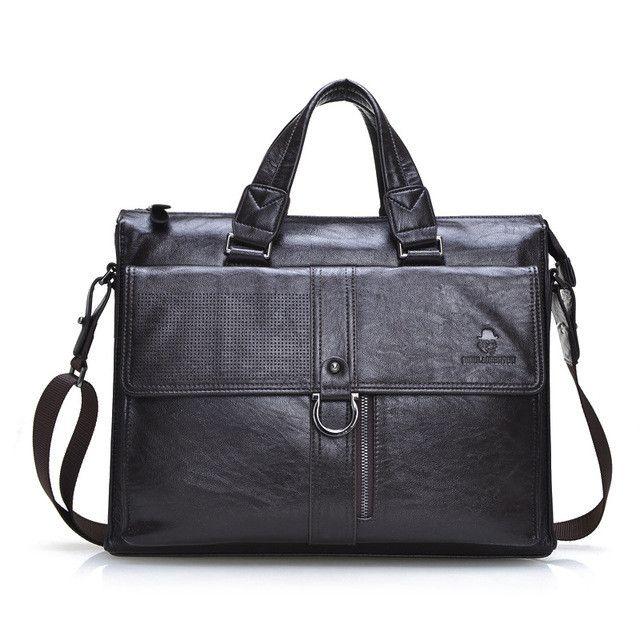 "15"" Split Leather Bag 2017 Laptop Handbag Flap-over Mens Leather Briefcase Men's Office Bags Business Bag Computer Bags for Men"