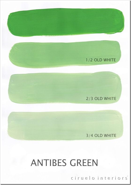 this blog reveals tons of different Annie Sloan Chalk Paint shade options with adding Old White.