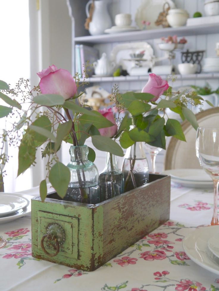 Tour a charming cottage full of ideas for decorating your home. Lots of vintage items and styles include French farmhouse, shabby chic, romantic and cottage.