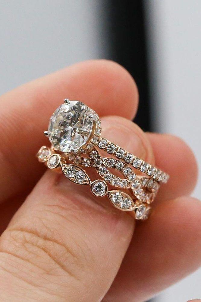 18 Uncommonly Beautiful Diamond Wedding Rings ❤ diamond wedding rings pave band twisted round cut diamond ❤ More on the blog: https://ohsoperfectproposal.com/diamond-wedding-rings/