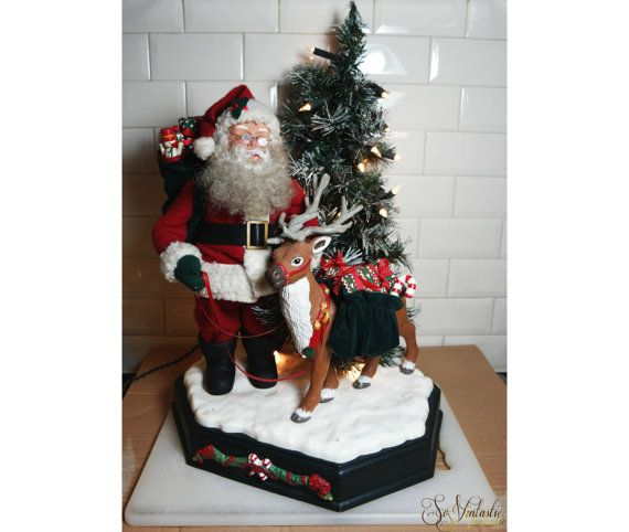 1000 images about holiday creations motionettes on for Animated santa claus decoration