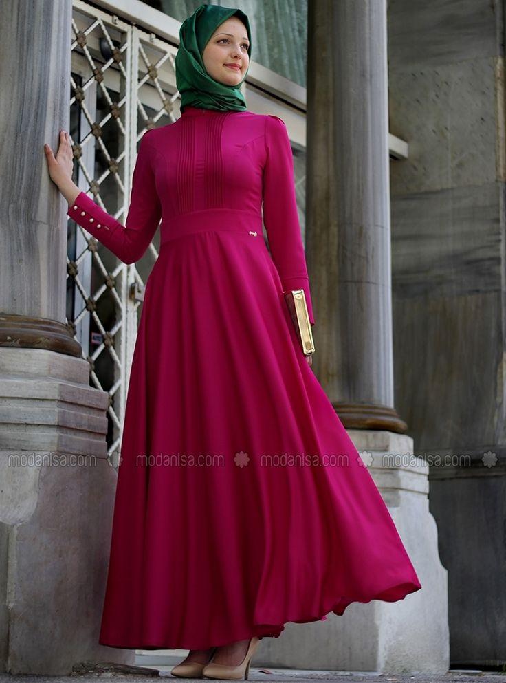 Ribbed Dress - Fuchsia - Enamel Love