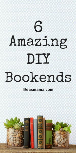 If you've got a situation with books or other household items that need help staying in place, hopefully these DIY bookends will inspire you to get things in order.