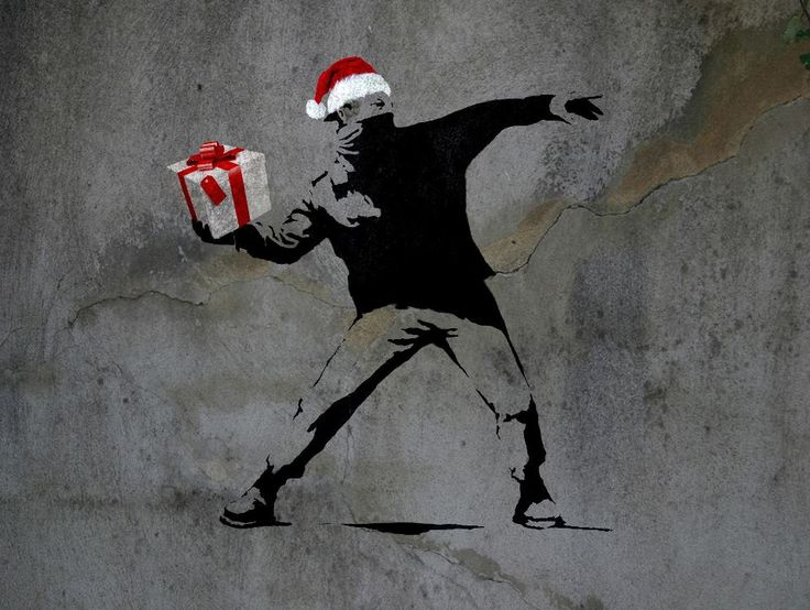 Happy holidays from #Banksy