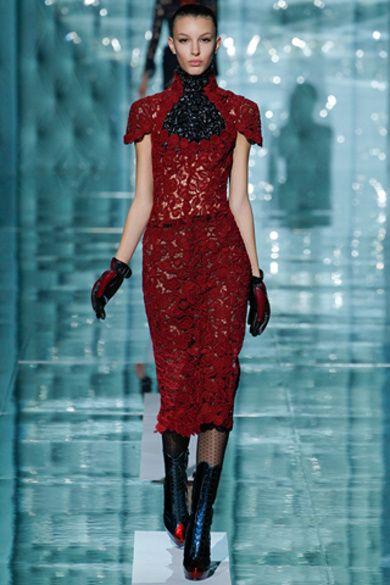 Trendy tygodnia mody w Nowym Jorku - koronka