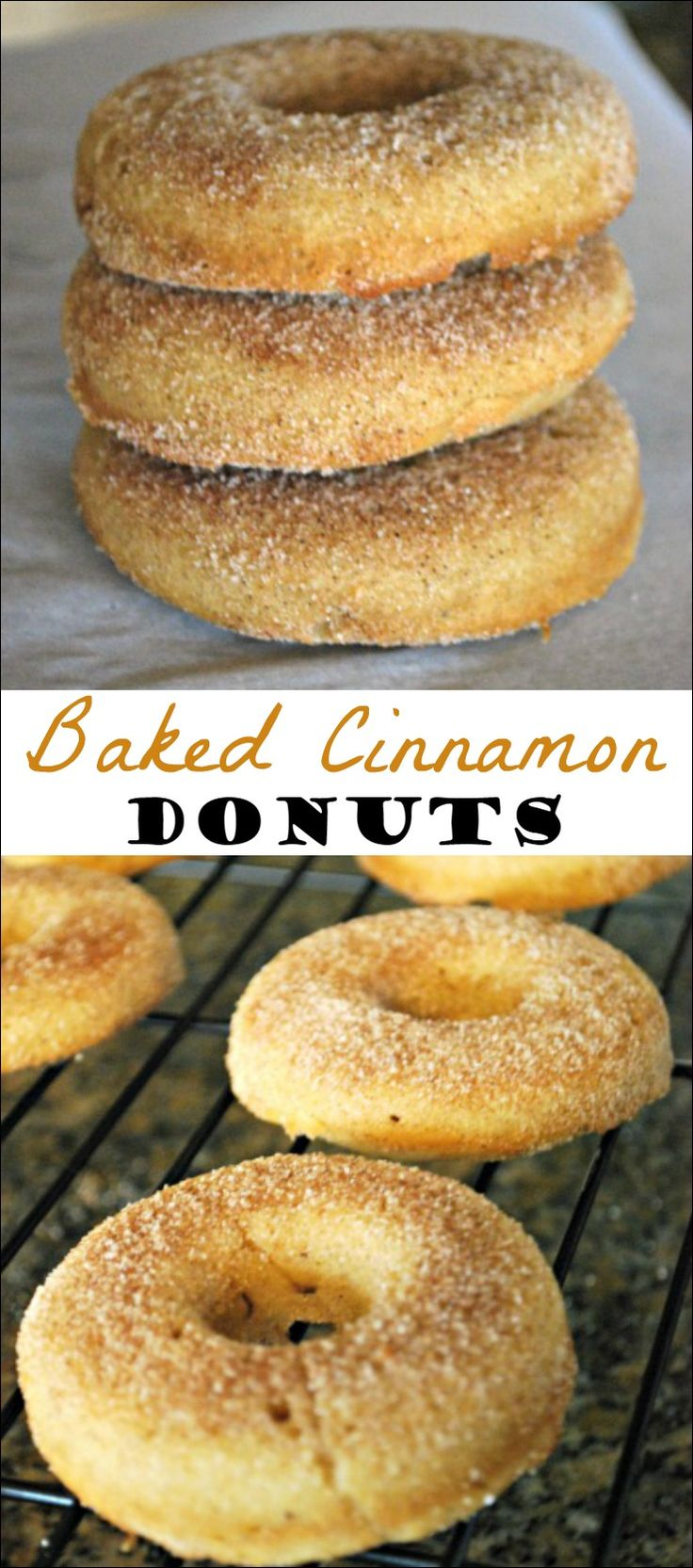 These Baked Cinnamon Donuts are light, fluffy and oh so good! You'll love these warm, right out of the oven! #AD #QuickerPickerUpper