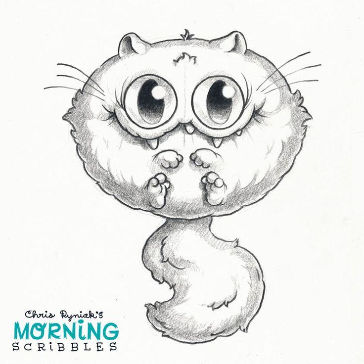 Scribble Monster Drawing : Chris ryniak morning scribbles