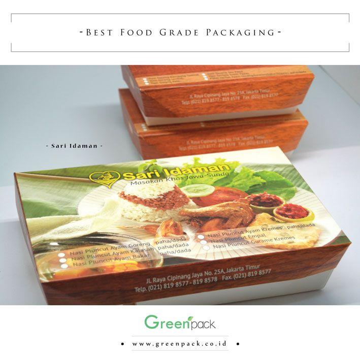 Dus Makanan Sari Idaman ini merupakan #Greenpack tipe 5C-2314, Cocok sekali digunakan untuk nasi bento, nasi campur, nasi uduk, nasi padang, dll. Untuk informasi lebih lanjut atau pemesanan dapat mengunjungi website kami di : http://www.greenpack.co.id/