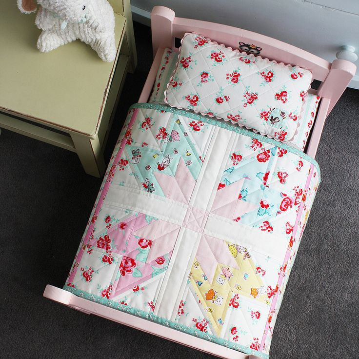 178 best Doll Quilts & Bedding images on Pinterest | Dolls, DIY ... : pillow and quilt - Adamdwight.com