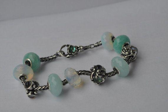 Natural Amazonite gemstone bead for Pandora or от WiseOwlBead