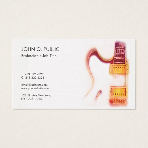 music teacher guitar instructor premium linen luxe business card