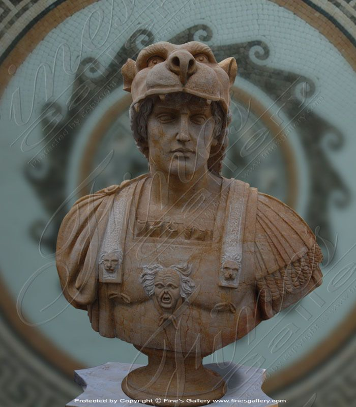Alexander the Great Marble Bust - Marble Statue, historical Greek kingdom of Macedonia
