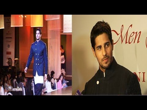 Siddharth Malhotra walks the ramp for MEN FOR MIJWAN fashion show.