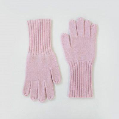 Redcurrent Pink Cashmere Ribbed Gloves $69.50.