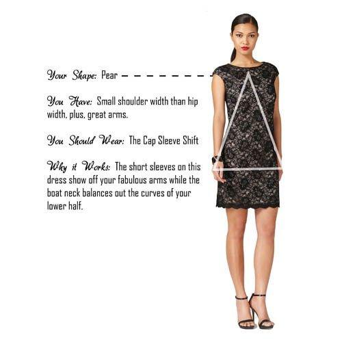 Shop Your Shape Lace Pear