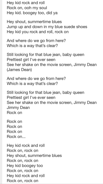 David essex rock on lyrics picture 79
