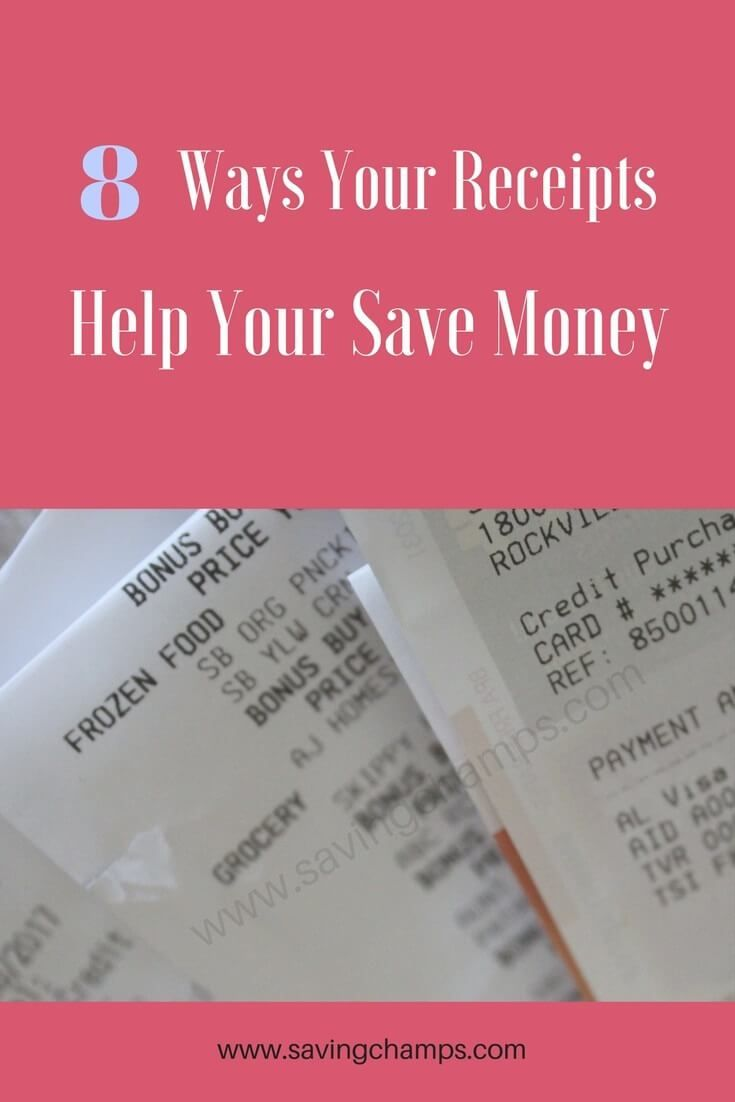 A simple receipt may help us save money in multiple ways. Here are 8 reasons why we should save receipts. | money-saving tips | cash back | shopping tips | frugal living | save receipts for tax deductions