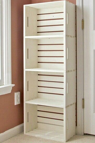 Diy storage and I love the paint color :).  Want a shelf like this in my room