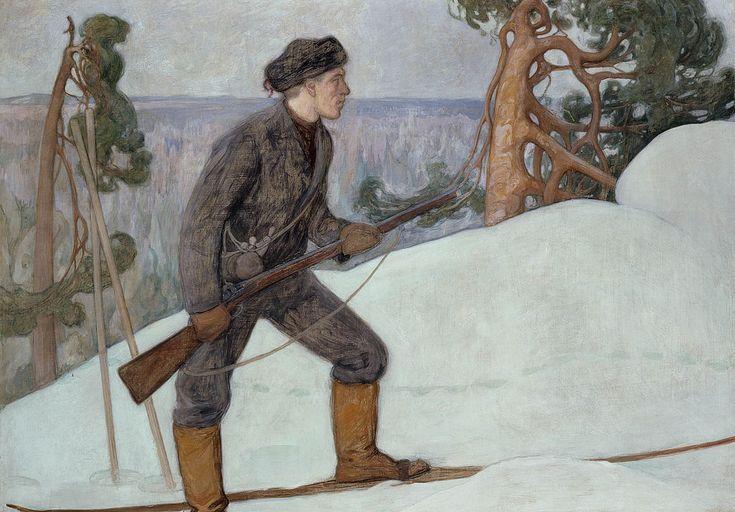The Athenaeum - Lynx Hunter (Pekka Halonen - )
