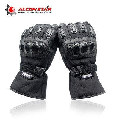 Winter Motorcycle Gloves Racing Waterproof Windproof Winter Warm Leather Cycling Bicycle Racing Gloves