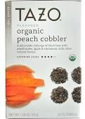 Tazo Organic Tea, Peach Cobbler, 1.76 oz, Multicolor