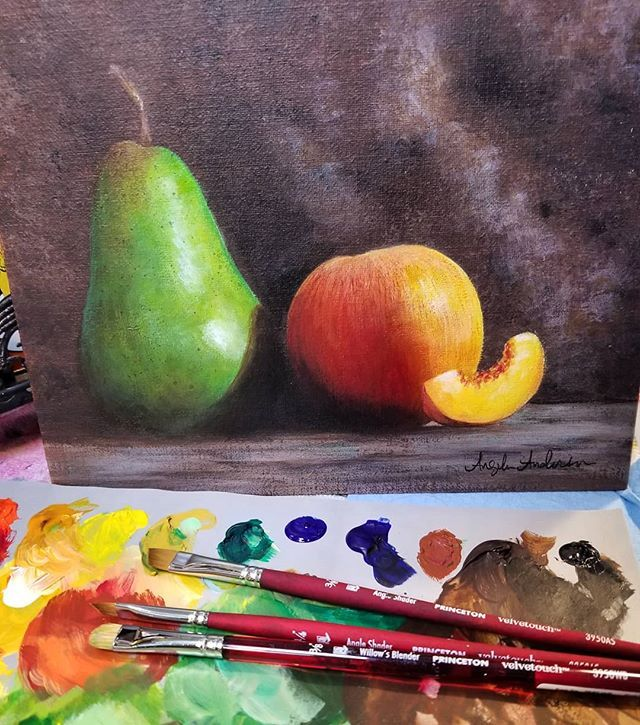Realistic Fruit Still Life Acrylic Painting Tutorial By Angela