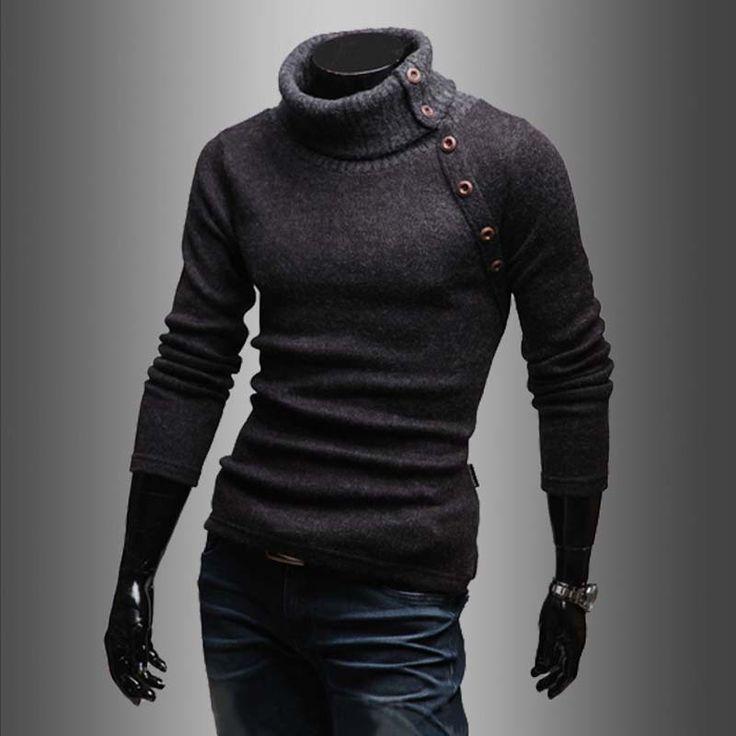 Вязание рубашки пуловер свитер 2016 Новый стиль летнее платье мода подходит для мужчин с длинным рукавом с отложным воротником мужская одежда