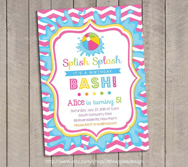 Pool Party Invitation / Kids Pool Party Invitation / by DreamyDuck