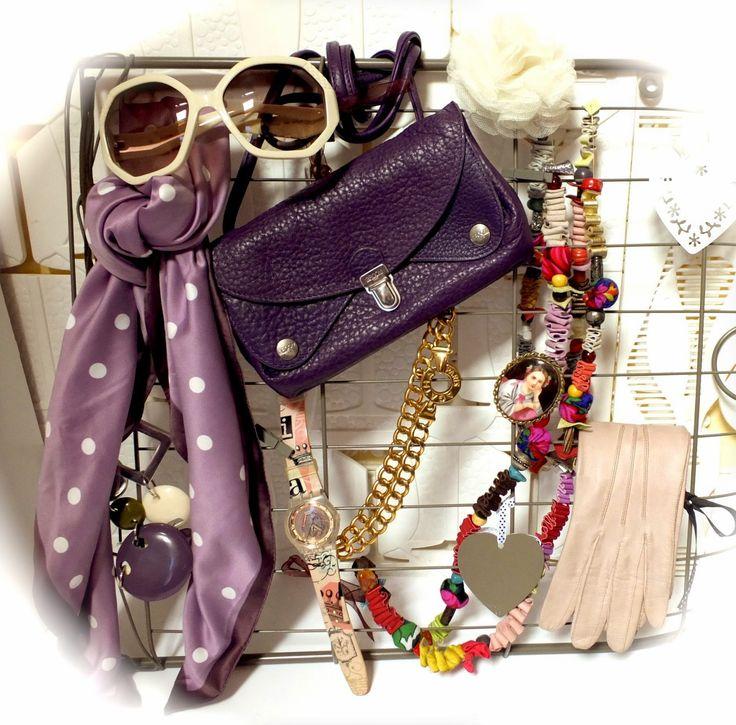Sac besace GROOM violet modèle facteur - 45,00€