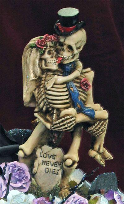 Skeleton Cake Topper Extreme Wedding Cakes Pinterest