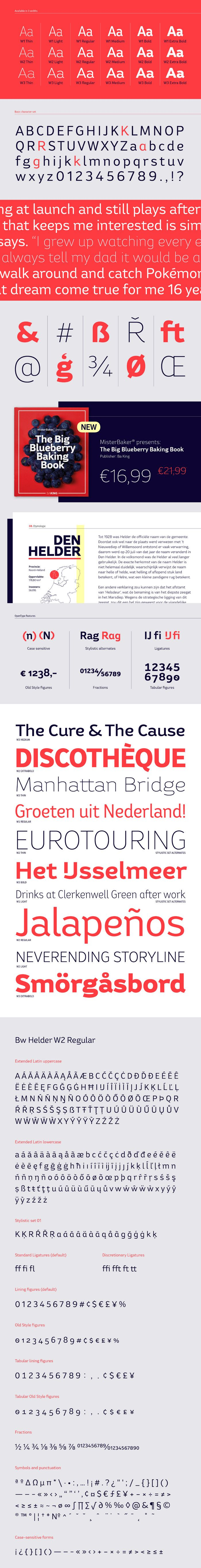 Bw Helder Font Family This is a family of fonts with 18 professional fonts. Add it to your fonts collection as it is suitable for many of your work.Y