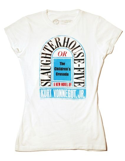 Slaughterhouse-Five book cover t-shirtClassic Book, Slaughterhouse F Shirts, Slaughterhouse F Book