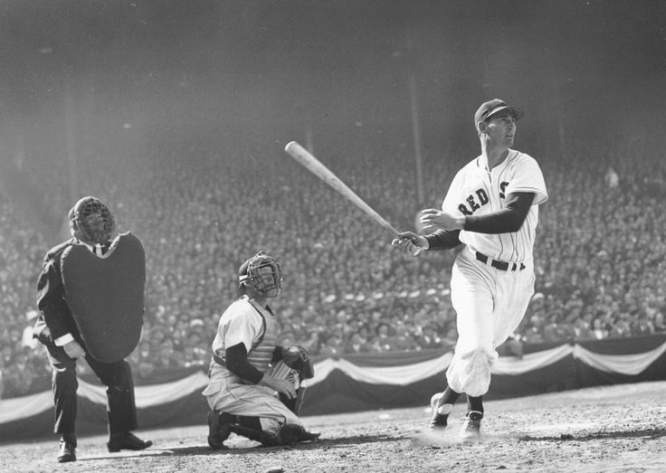 Ted Williams was the Greatest Hitter Who Ever Lived. In 1941 Williams finished his 3rd season with the Boston Red Sox with a batting average of .406 and retired in 1960 with a career average of .344. During the last at bat of his career on September 28th, 1960 Williams bid baseball farewell by hitting a home run. He's the only player to bat over .400 in a single season.