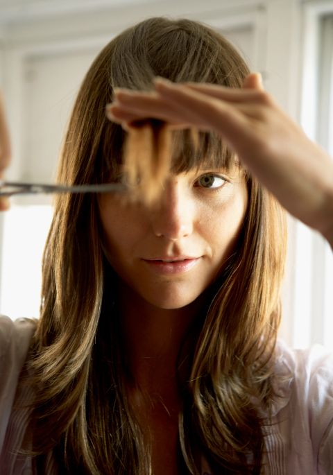 need a bang trim but can't make it to the salon? before you reach for the scissors, read these tips.