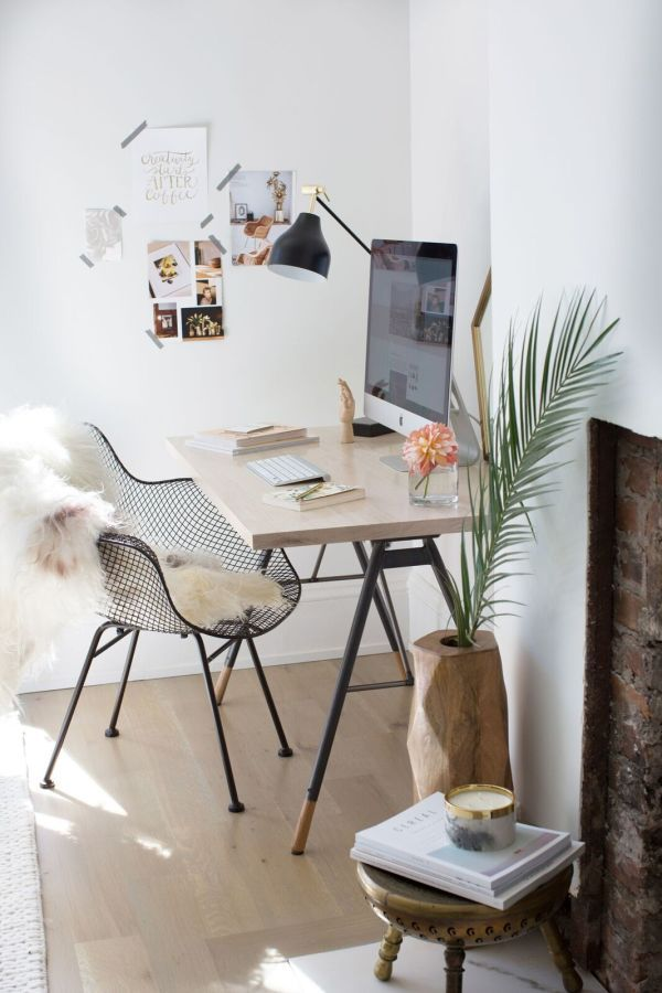 Boho Chic Modern Office Space Stylemepretty