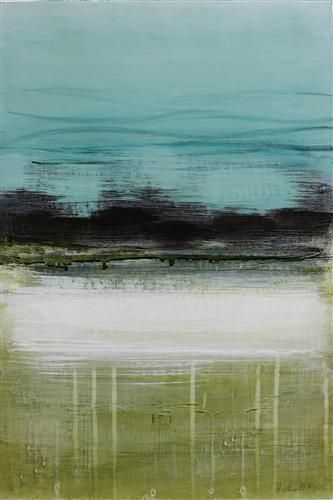 Original art for sale at UGallery.com | Sand & Sea #1 by Heather McAlpine | $450 | acrylic painting | 24' h x 16' w | http://www.ugallery.com/acrylic-painting-sand-sea-1
