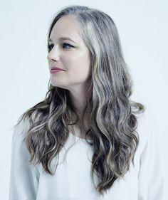 Long silver gray hair.  Aging and going gray gracefully. No dye. Dye free.  Granny hair. Grey hair.