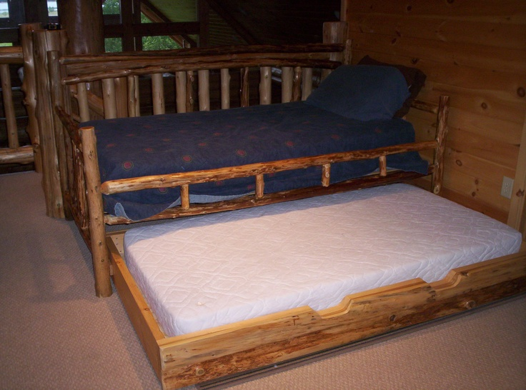 log cabin trundle daybed My dream homes Pinterest