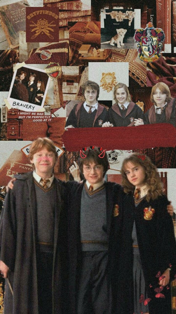 Harry Potter Golden Trio Lockscreen Wallpaper Harry Potter Aesthetic Harry Potter Pictures Harry Potter Ron