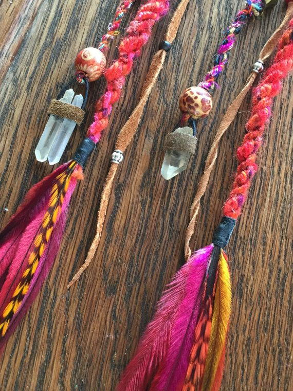 Clip in Dreads x 2//Clip in Hair Accessories by HeidiHaHa on Etsy