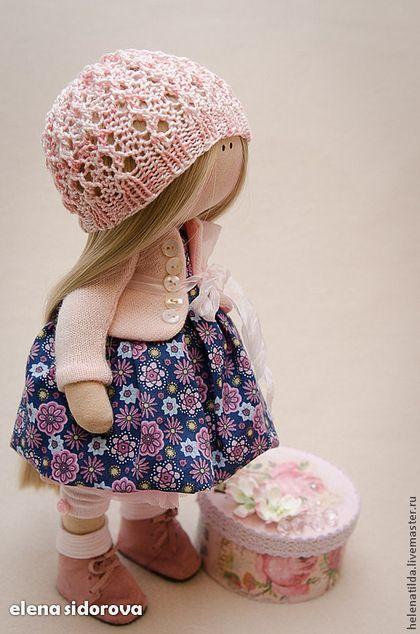 Коллекционные куклы ручной работы. Ярмарка Мастеров - ручная работа. Купить Малышка ЕВА. Handmade. Бледно-розовый, кукла на заказ