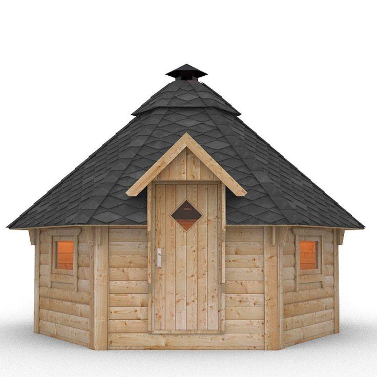 Wooden BBQ Hut Grill House Grillkota Barbecue Winter Summer Garden Log Cabin in Garden & Patio, Garden Structures & Shade, Log Cabins | eBay