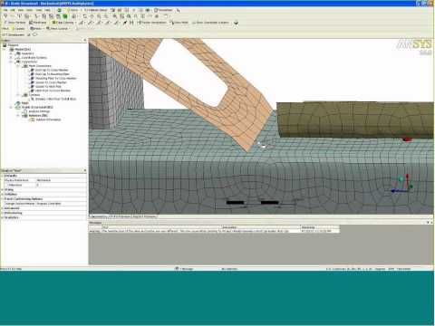 OLD VERSION - Meshing - Shells & Beams - ANSYS e-Learning from CAE Associates - YouTube