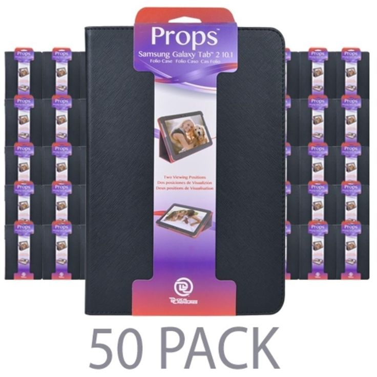 (50-Pack) PC Treasures Props Folio Case for Samsung Galaxy Tab 2 10.1