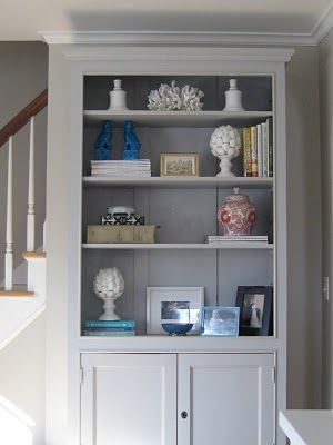 LR bookcase styling