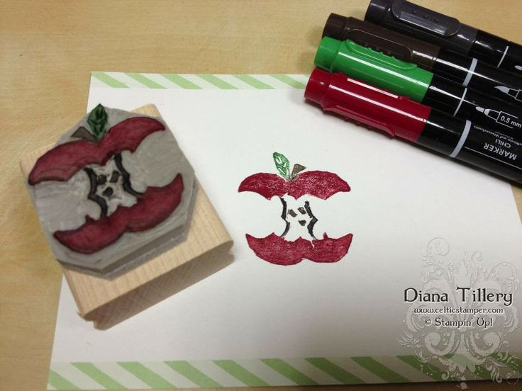 Apple carved by Diana Tillery