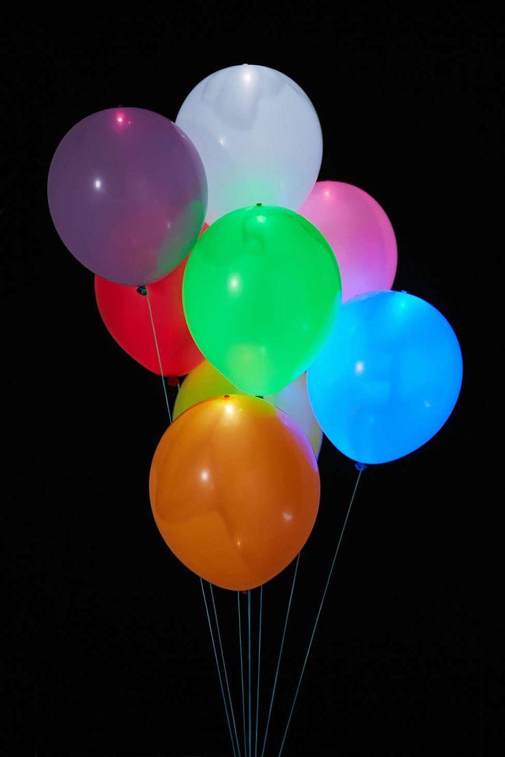 Colorful Light Up Led Balloon 15 Pack Set Light Up
